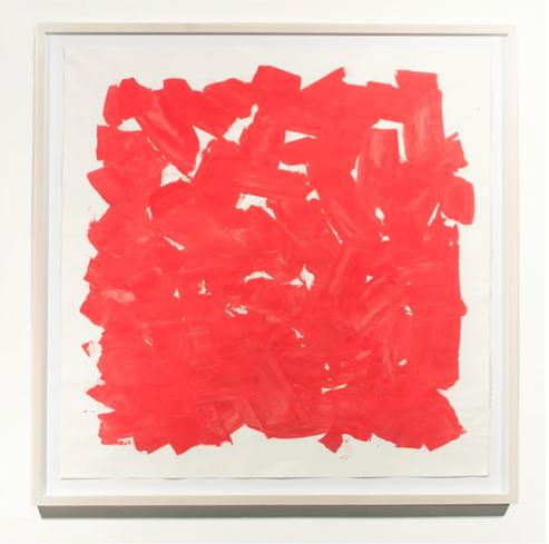 Cuadro rojo de Rodrigo González Castellanos