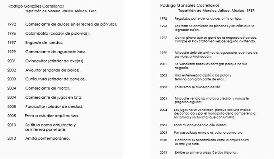 Currículum de Rodrigo González Castellanos