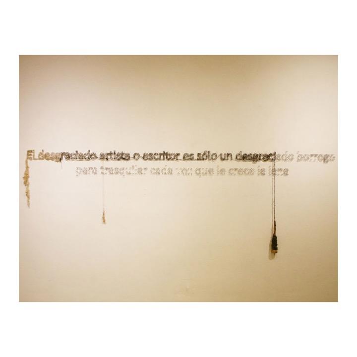Sin título (Frase de José Clemente Orozco) de Rodrigo González Castellanos