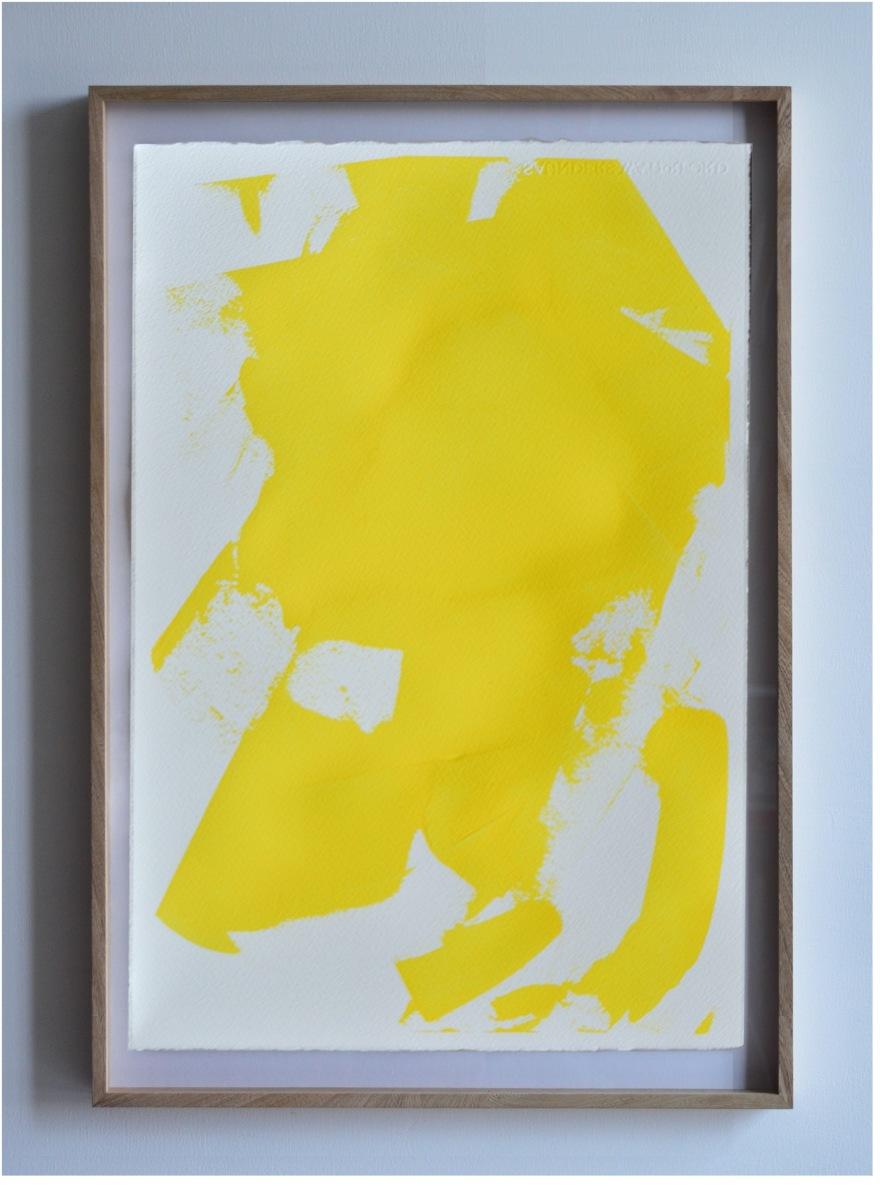 Estudio de desgaste sobre bóveda, Amarillo 1 de Rodrigo González Castellanos