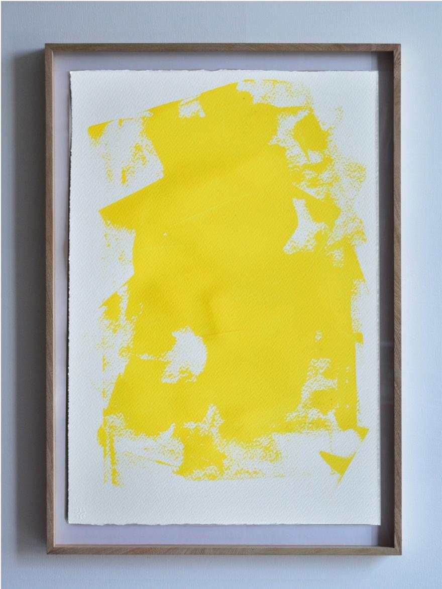 Estudio de desgaste sobre bóveda, Amarillo II, de  Rodrigo González Castellanos