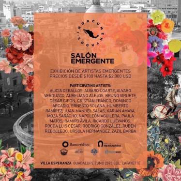 Cartel Salón Emergente Guadalajara 2017