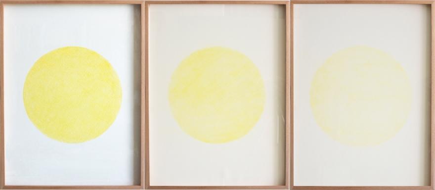 Estudio de desgaste, Amarillo Cadmio de Rodrigo González Castellanos