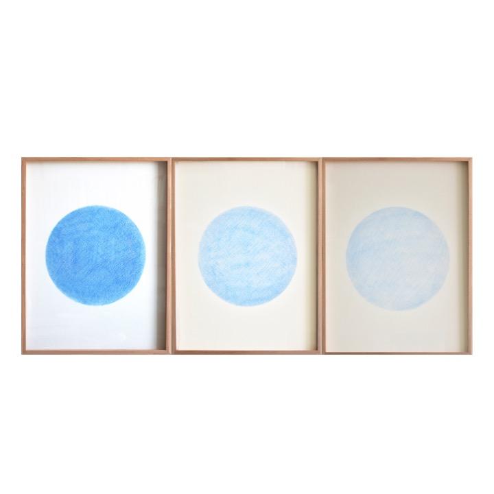 Estudio de desgaste, Azul Oscuro de Rodrigo González Castellanos