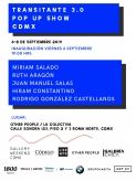 FLYER TRANSITANTE 3.0 : GALLERY WEEKEND CDMX
