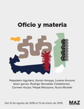 oficio y materia_exposición en el MAZ_2018
